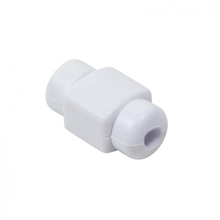 Imagine Protectiedin plastic/silicon pentru cablu USB Alb, Logilink AA0091W