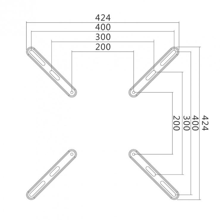 "Imagine Adaptor VESA pana la 400x400 32""-55"" max. 30 kg, Logilink BP0029"