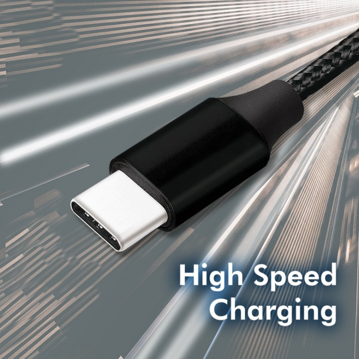Imagine Cablu USB 2.0-C la USB-C T-T 1m Negru, Logilink CU0154