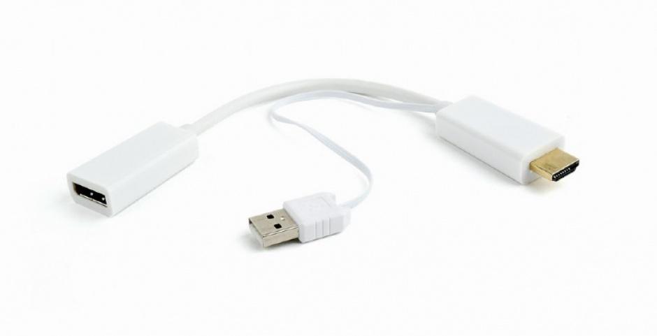 Imagine Adaptor HDMI la Displayport T-M Alb, Gembird DSC-HDMI-DP-W