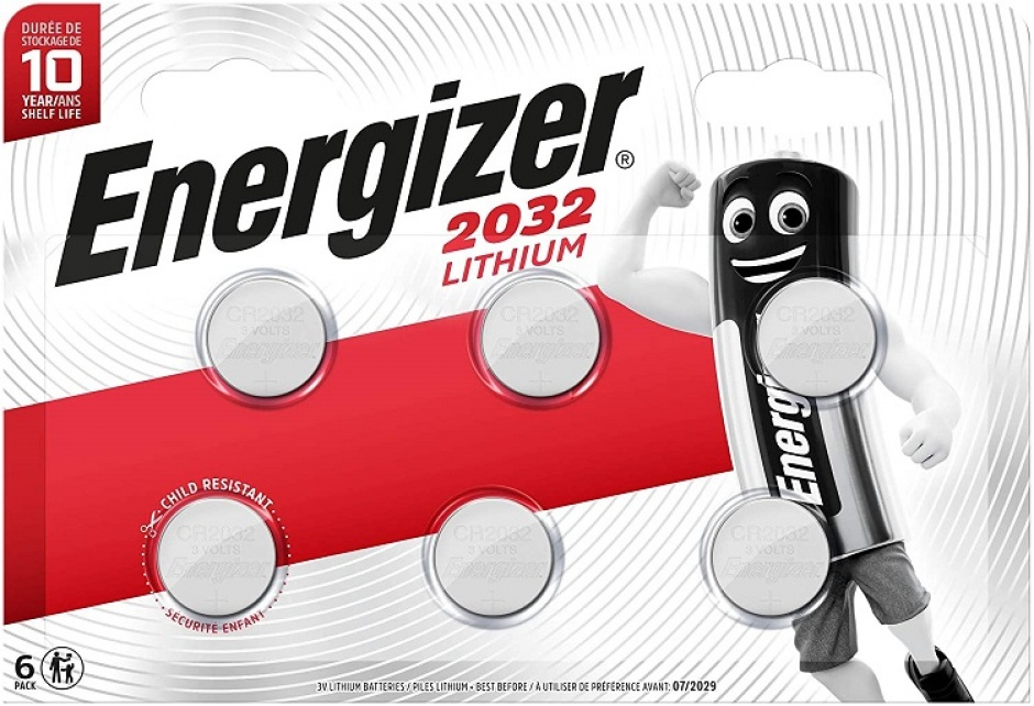 Imagine Set 6 buc baterii litiu CR2032, ENERGIZER
