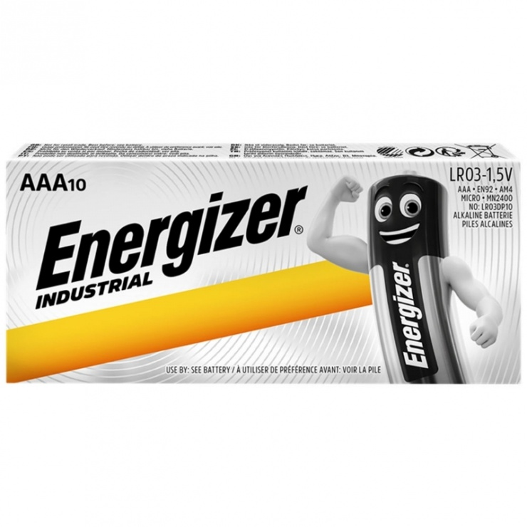 Imagine Set 10 buc baterii industriale AAA, ENERGIZER
