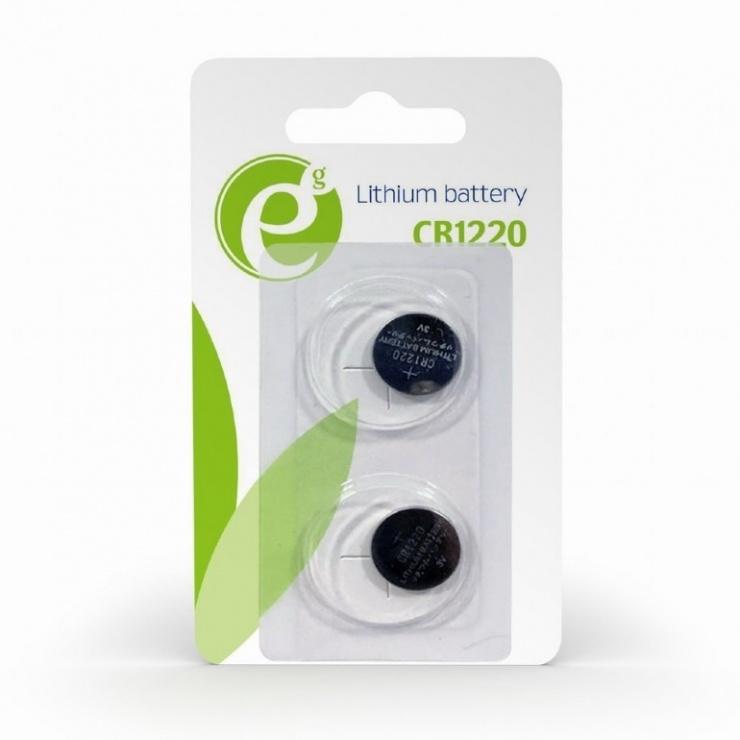 Imagine Set 2 buc baterie CR1220 3V Litiu, Energenie EG-BA-CR1220-01
