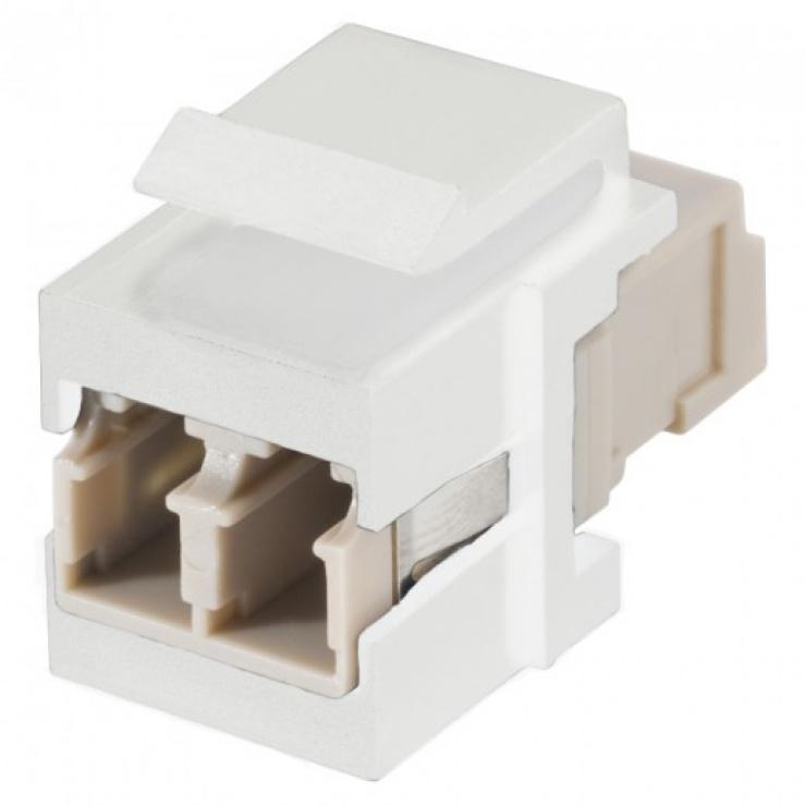 Imagine Keystone fibra optica LC - LC Alb, KST-L3L3-P-WS