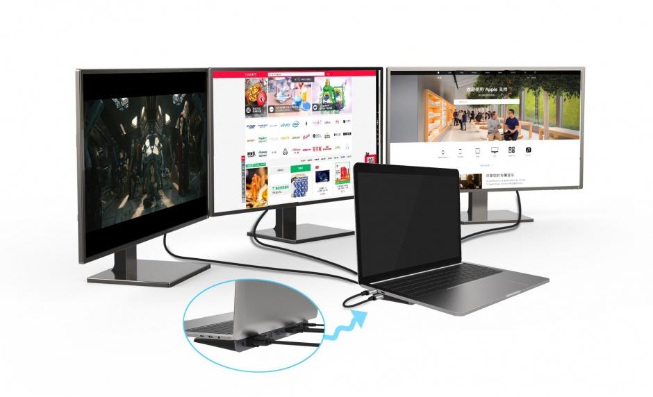 Imagine Adaptor USB-C la 3 x HDMI 4K@60Hz MST, KU31HDMI11