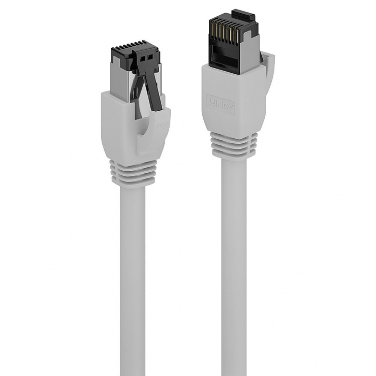 Imagine Cablu de retea RJ45 cat. 8.1 LSOH 0.3m Gri, Lindy L47430