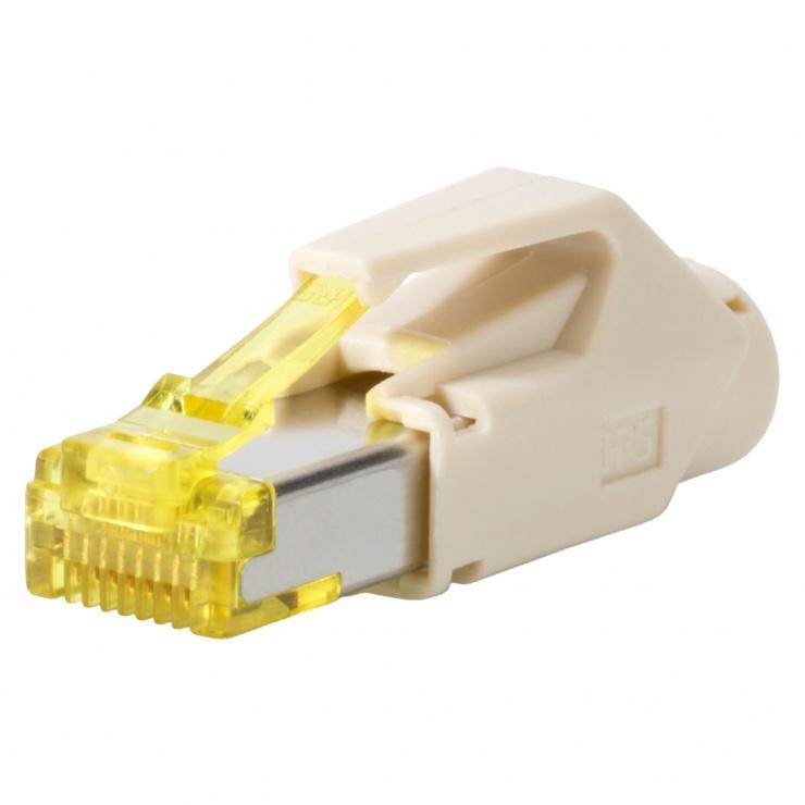 Imagine Conector de retea RJ45 cat. 6A Bej, RJ45C6A-BE