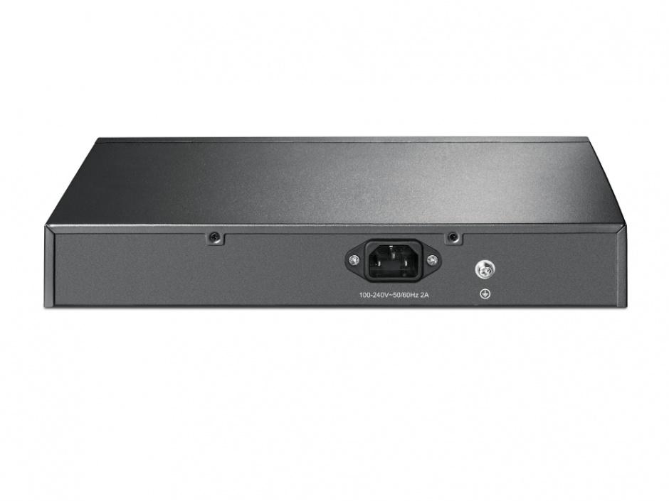 Imagine Switch Desktop/Rackmount 8 porturi Gigabit + 8 porturi PoE+, TP-LINK TL-SG1008MP