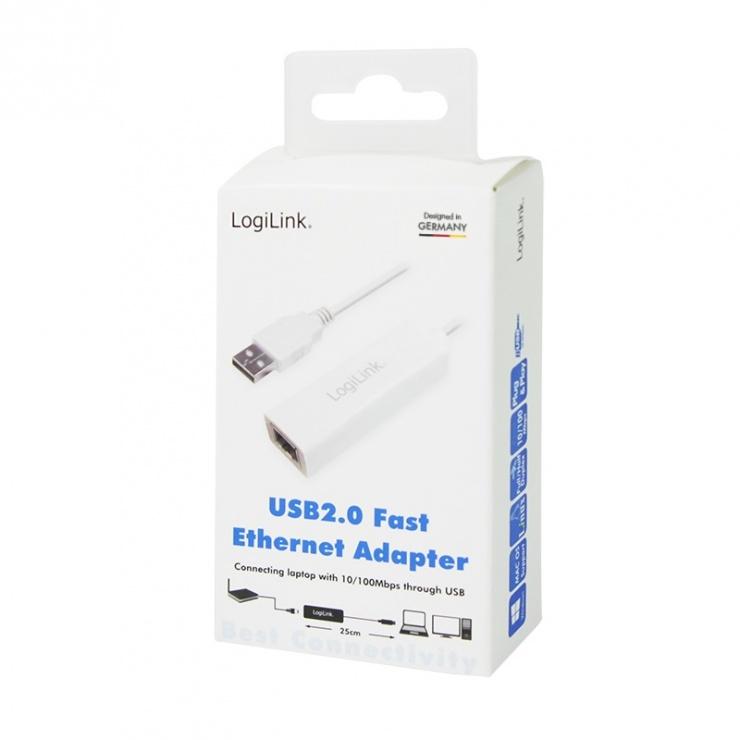 Imagine Adaptor USB 3.1-C la RJ45 Gigabit, Logilink UA0238
