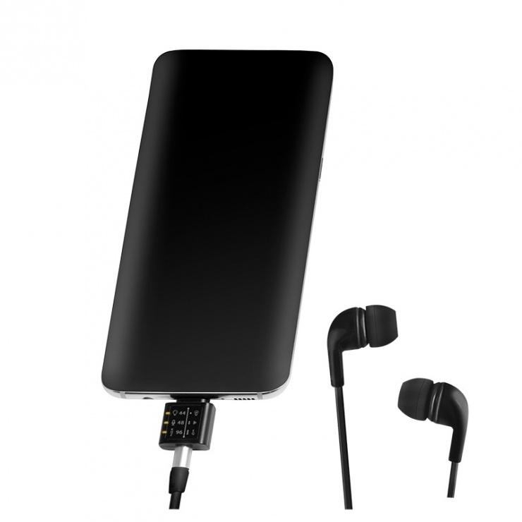 Imagine Adaptor audio USB-C la jack stereo 3.5mm cu EQ, 96 kHz / 24 bit DAC, Logilink UA0363