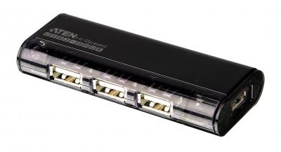 Imagine HUB USB 2.0 magnetic, 4 port, 3 culori, ATEN UH284