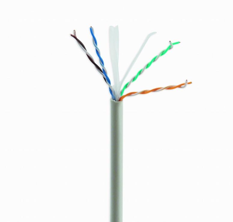Imagine Rola cablu de retea UTP cat 6 100m fir solid Cu/Al, Gembird UPC-6004SE-SOL/100