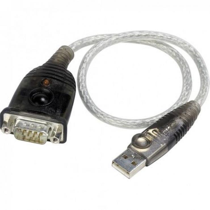 Imagine Cablu USB la Serial RS232 0.3m, ATEN UC-232A