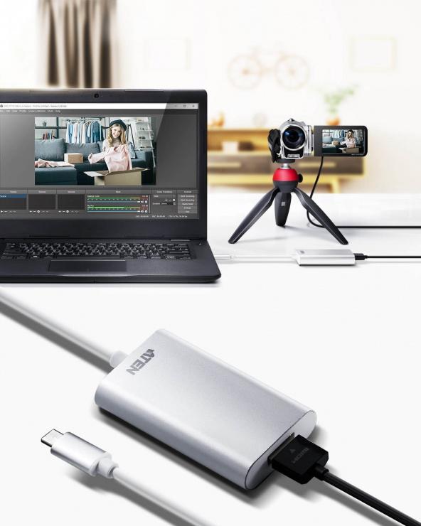 Imagine Placa de captura HDMI la USB-C UVC CAMLIVE, ATEN UC3020