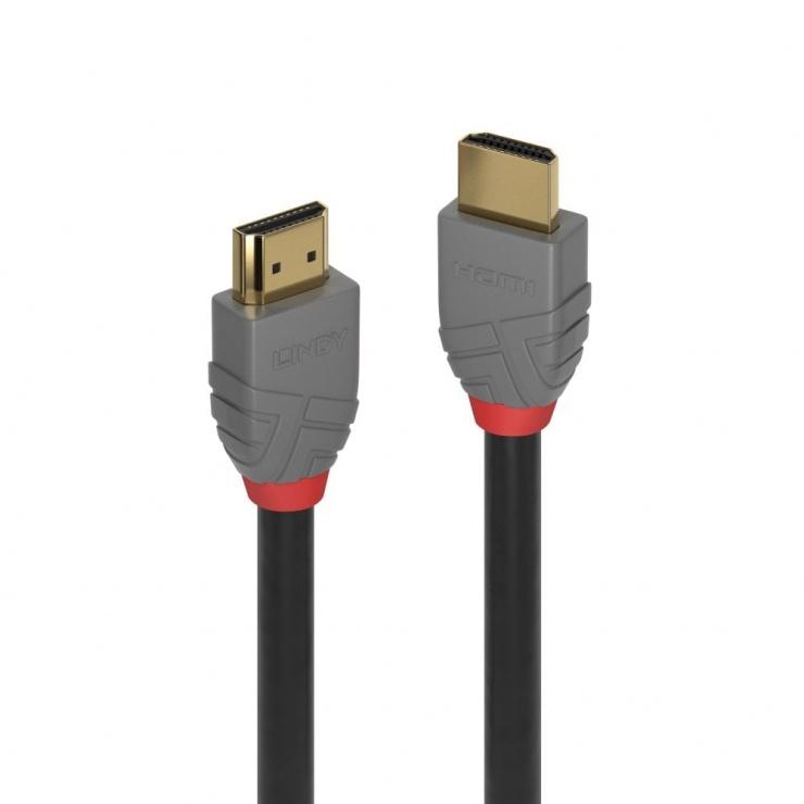 Imagine Cablu Ultra High Speed HDMI 10K@120Hz Anthra Line T-T 0.5m, Lindy L36951