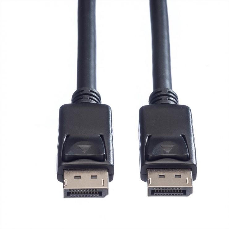 Imagine Cablu Displayport 4K@60Hz T-T TPE 7.5m Negru, Roline 11.04.5985