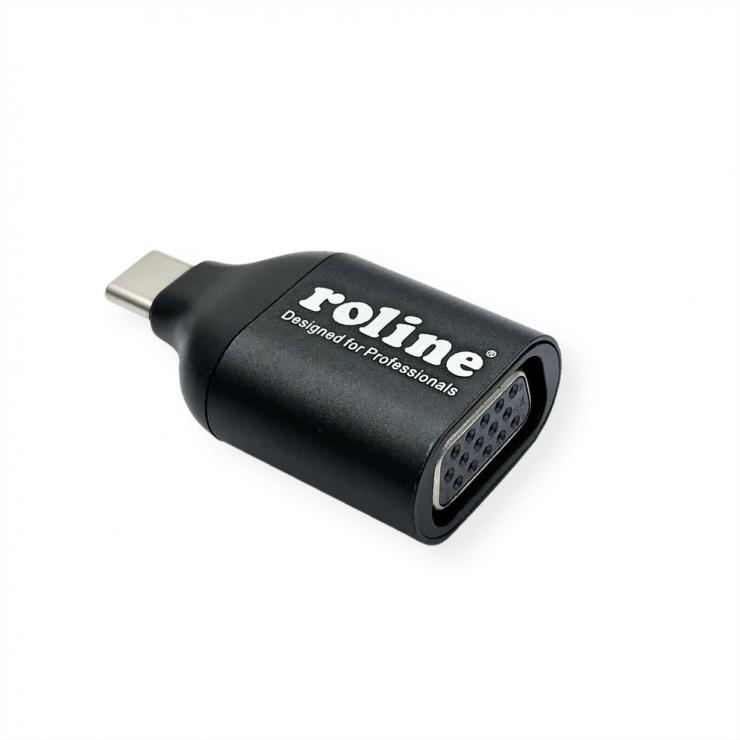 Imagine Adaptor USB-C la VGA T-M, Roline 12.03.3228