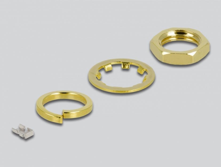 Imagine Adaptor RP-SMA bulkhead la MHF® 4L LK 1.37 10cm rezistent la stropire, Delock 12655