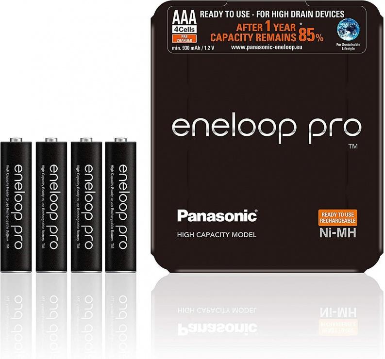 Imagine Set 4 acumulatori AAA 930 mAh, Eneloop Pro BK-4HCDE/4LE