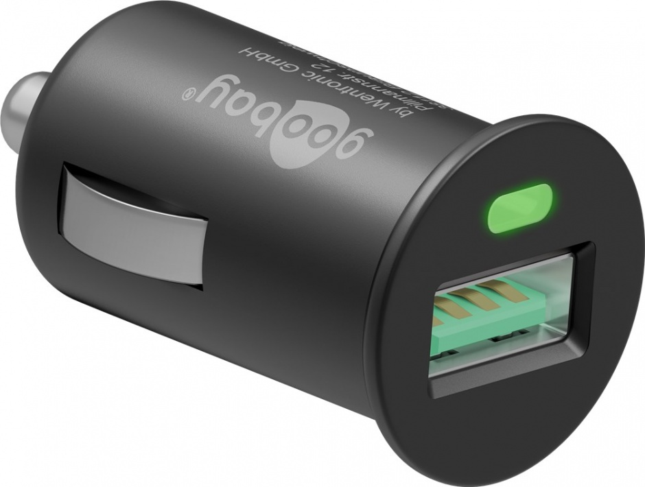 Imagine Incarcator auto 1 x USB Quick Charge/Fast Charger 3.0 3A, Goobay 45162