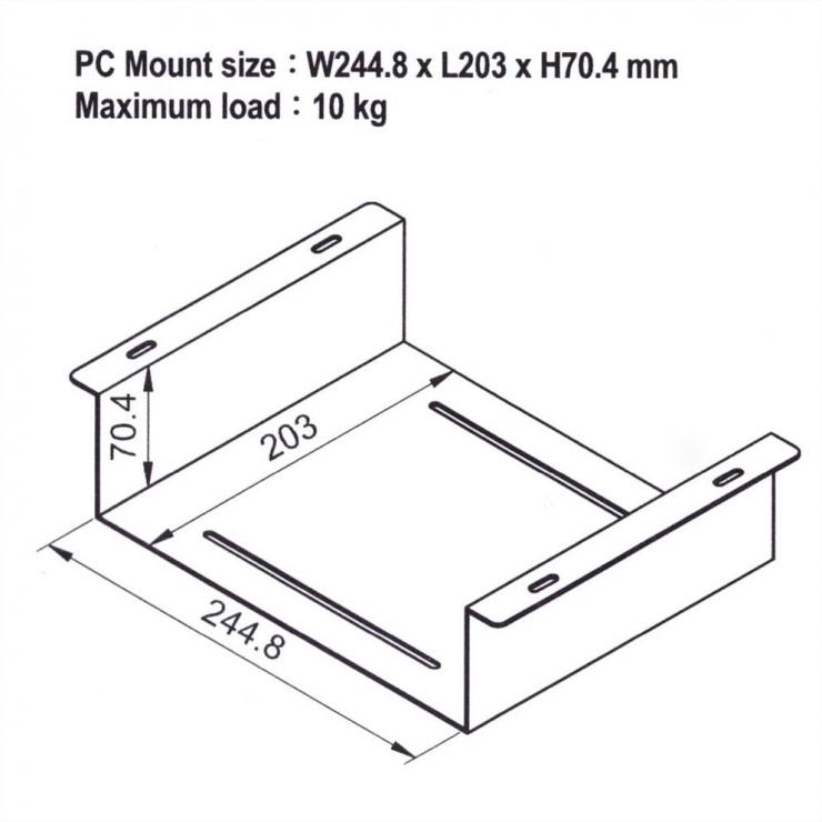 Imagine Suport birou pentru KVM/NUC/Mini PC, Roline 17.03.0113