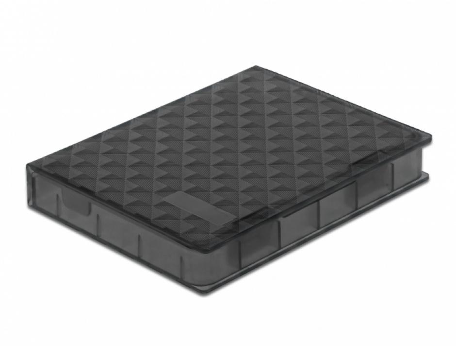 "Imagine Carcasa de protectie pentru HDD / SSD 2.5"" Gri, Delock 18368"
