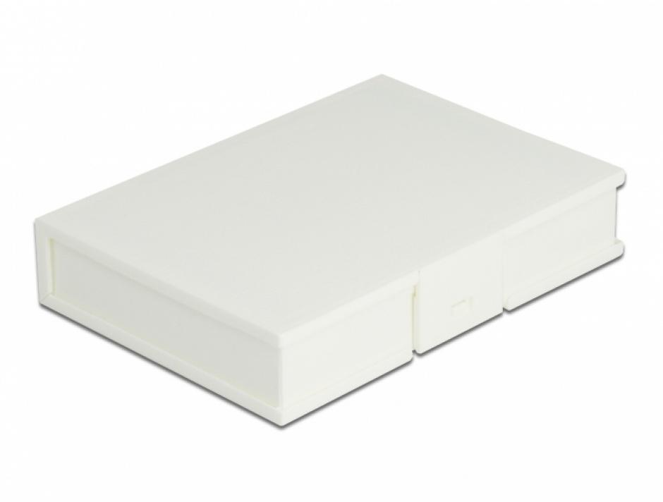 """Imagine Carcasa de protectie pentru HDD / SSD 3.5"""" Alb, Delock 18371"""