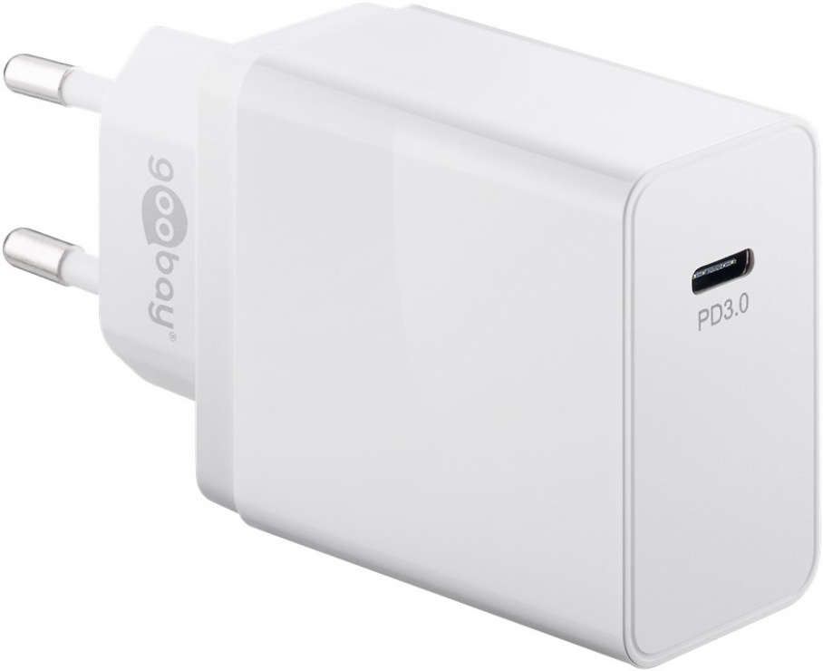 Imagine Incarcator priza USB-C PD (Power Delivery) 25W Alb, Goobay G57749