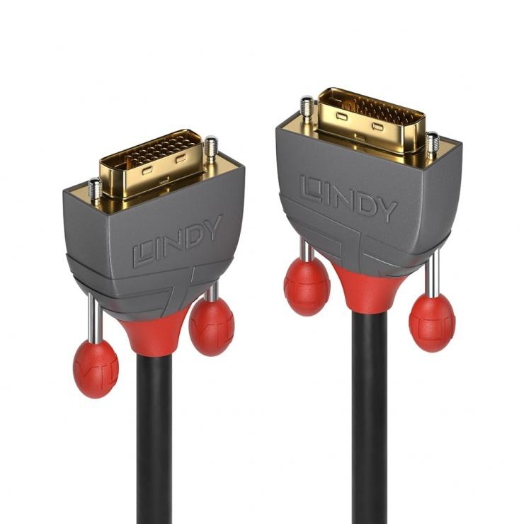 Imagine Cablu DVI-D Dual Link Anthra Line T-T 2m, Lindy L36222