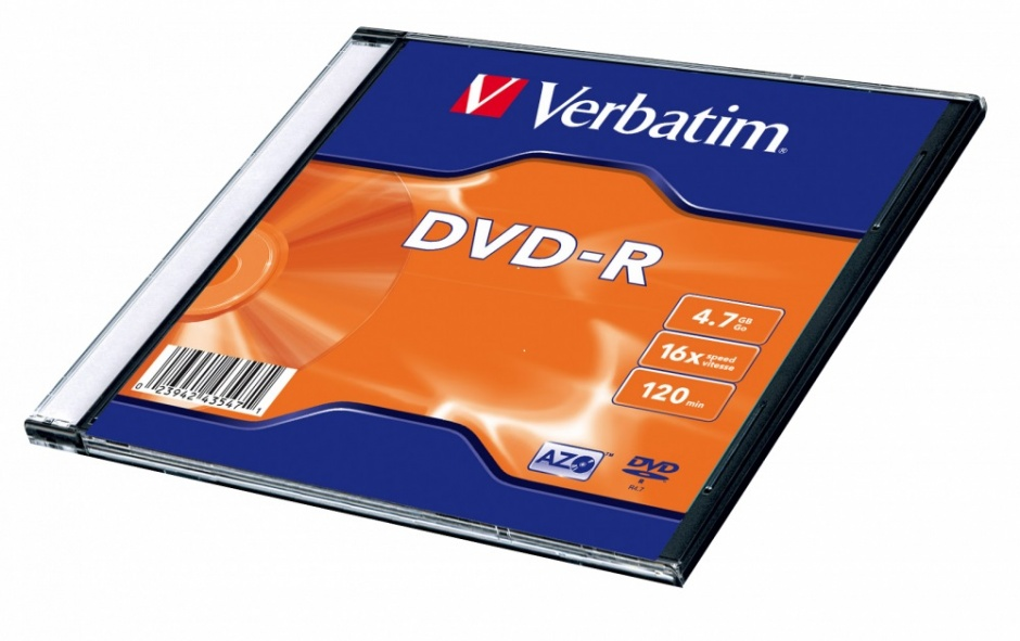 "Imagine DVD-R 4.7GB/120min/viteza 16x Single Layer cu carcasa ""Matt Silver"", Verbatim 43547"