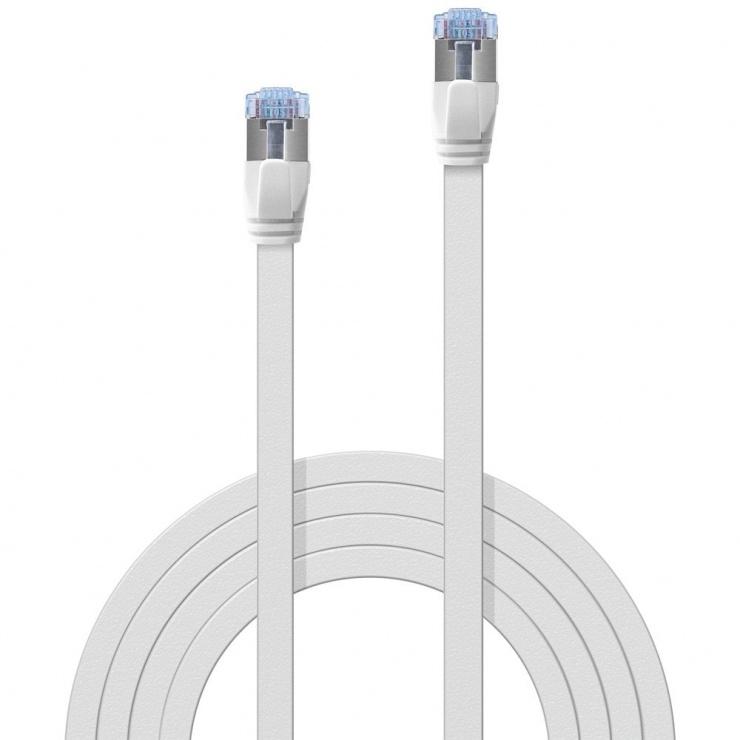Imagine Cablu de retea RJ45 Cat.6A U/FTP Flat 0.3m Alb, Lindy L47540