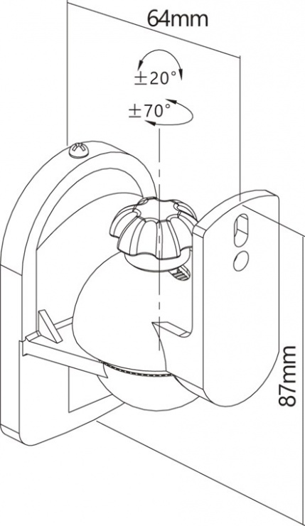 Imagine Suport perete pentru boxe max 3.5kg Negru,Goobay G49393