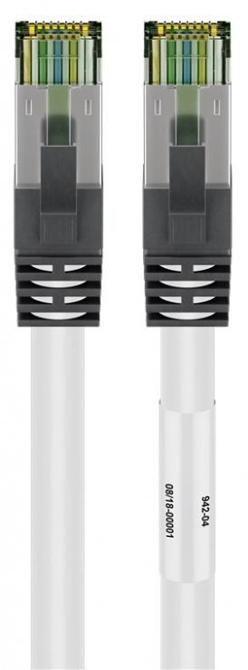Imagine Cablu de retea RJ45 S/FTP CAT 8.1 cu mufe CAT 6A 7.5m Alb, Goobay G55128