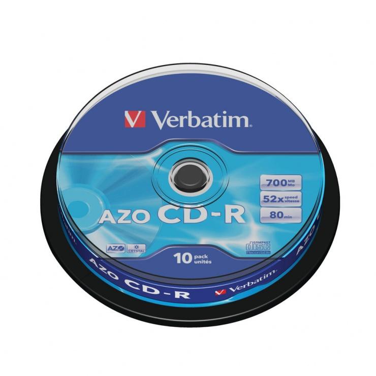 Imagine Set 10 buc CD-R 700MB/80min/52x, Verbatim 43437