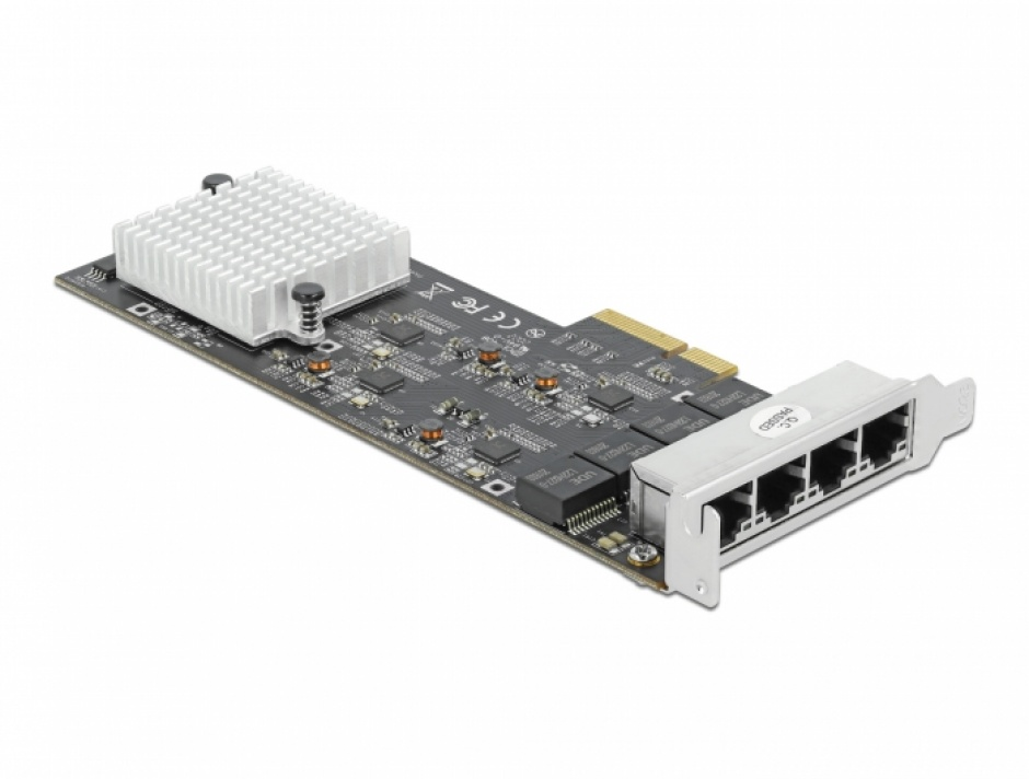 Imagine PCI Express x4 la 4 x 2.5 Gigabit LAN RTL8125, Delock 89192
