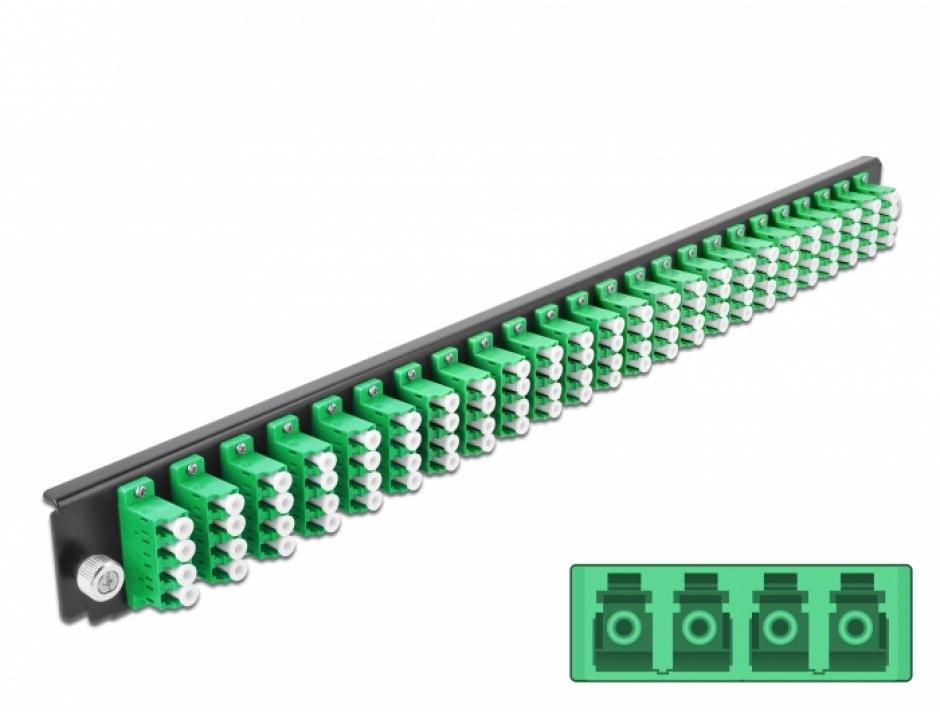 """Imagine Panou 19"""" pentru carcasa 24 porturi LC Quad OS2 verde, Delock 43370"""