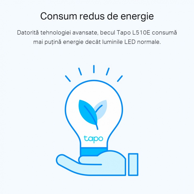 Imagine Bec Wi-Fi inteligent cu reglarea intensitatii luminii E27 8.7W, TP-LINK Tapo L510E
