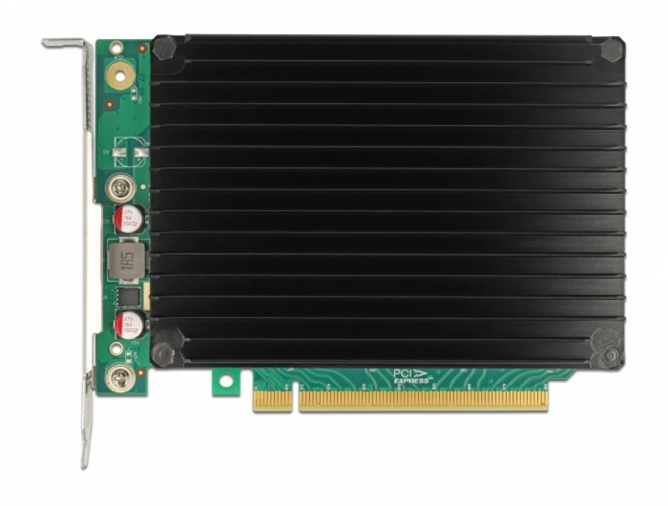 Imagine PCI Express cu 4 porturi NVMe M.2 Key M cu ventilator, Delock 90054