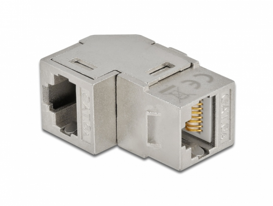 Imagine Modul keystone RJ45 cat 6A unghi 90 grade, Delock 86997