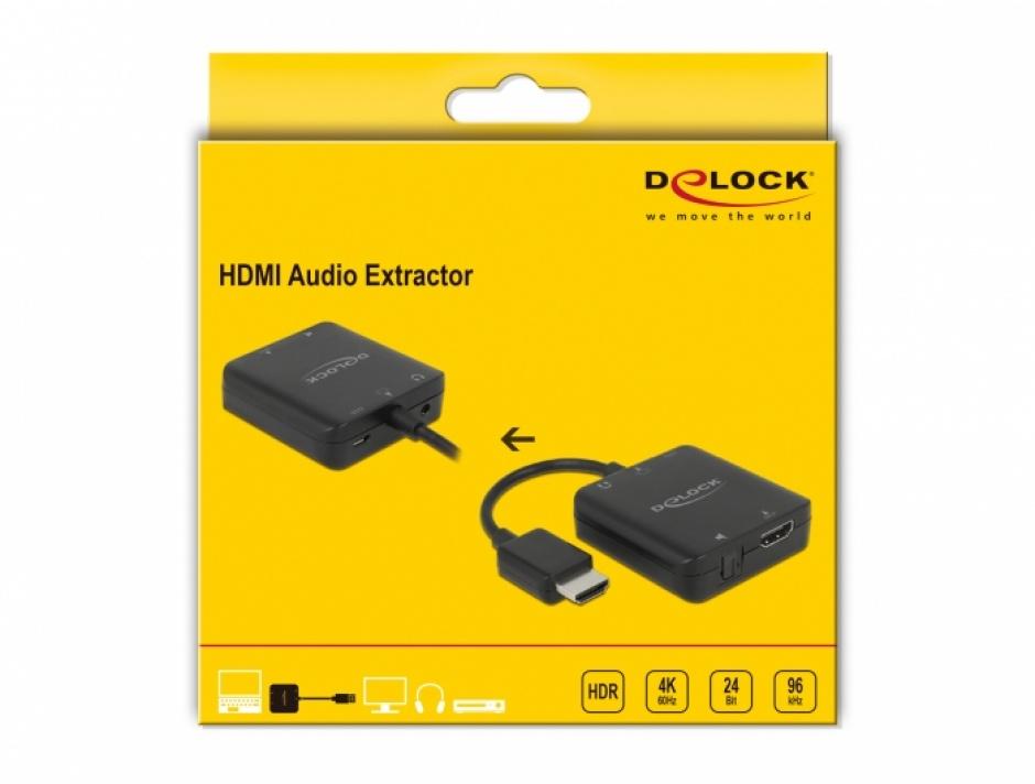 Imagine Extractor audio HDMI 4K60Hz, Delock 63333