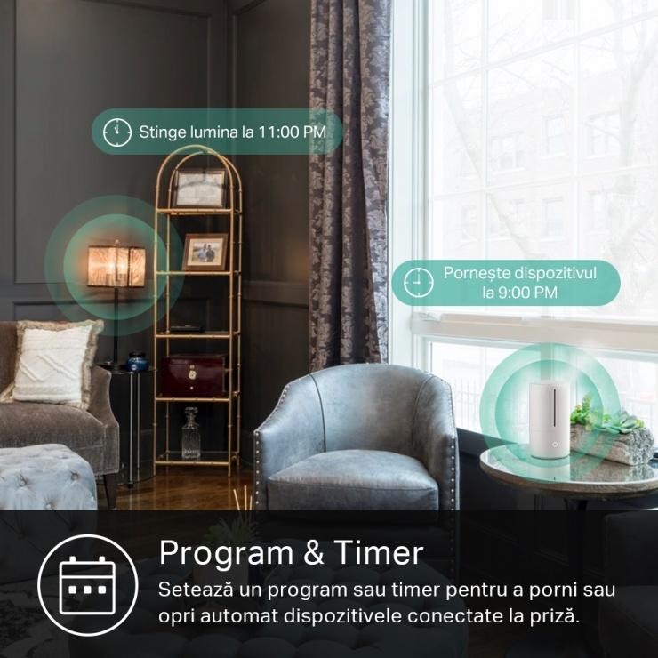 Imagine Set 2 buc priza inteligenta Schuko Wi-Fi Slim, TP-LINK KP105P2