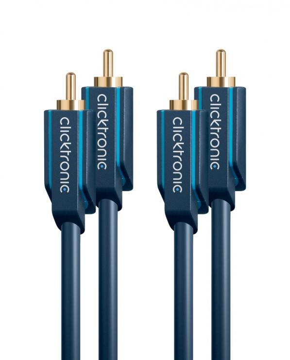 Imagine Cablu audio 2 x RCA la 2 x RCA T-T 15m, Clicktronic CLICK70385