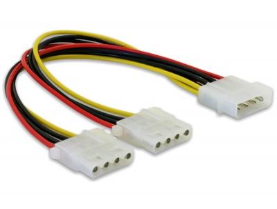 Imagine Cablu alimentare Molex la 2 x Molex 4 pini T-M, Delock 82100