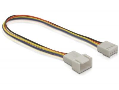 Imagine Cablu prelungitor ventilator PWM 4 pini T-M 0.20m, Delock 82429