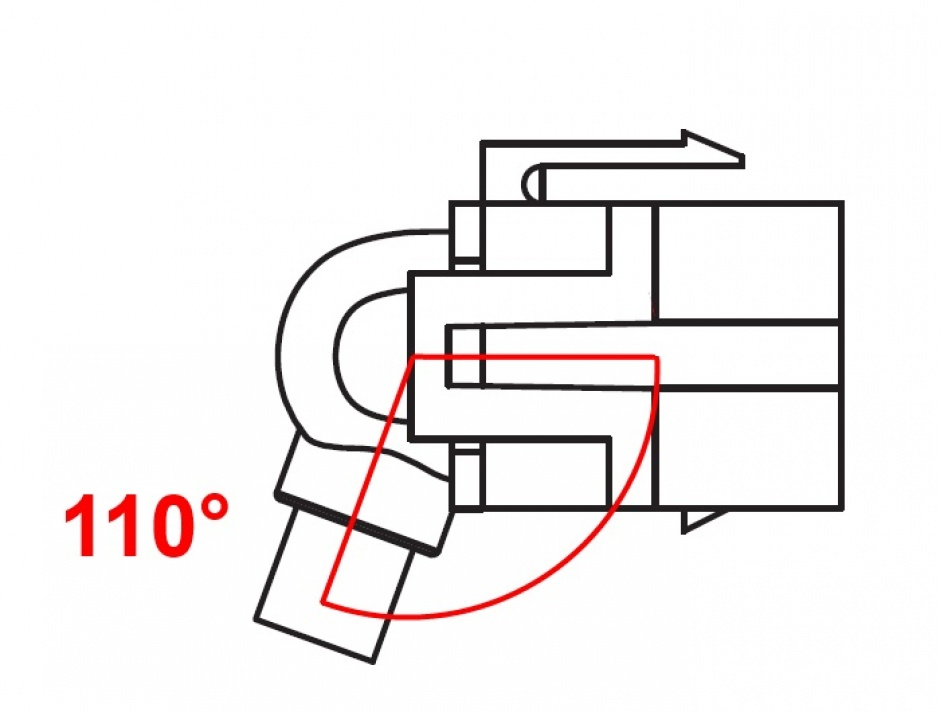 Imagine Modul keystone HDMI 4K30Hz 110 grade M-M 0.3m, Delock 86853