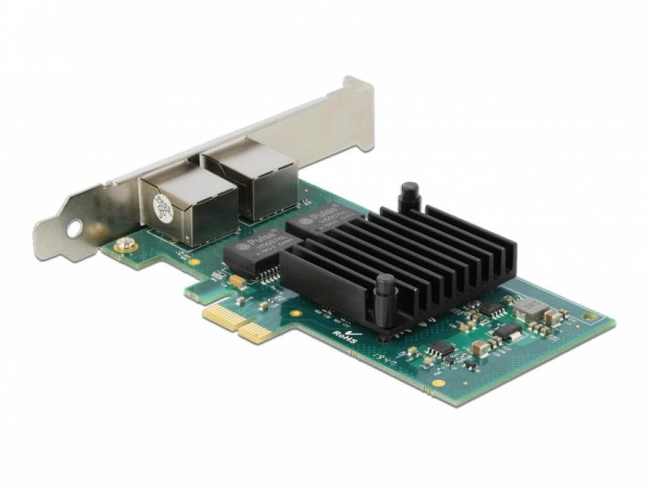 Imagine Placa PCI Express la 2 x Gigabit LAN Intel i350, Delock 88502