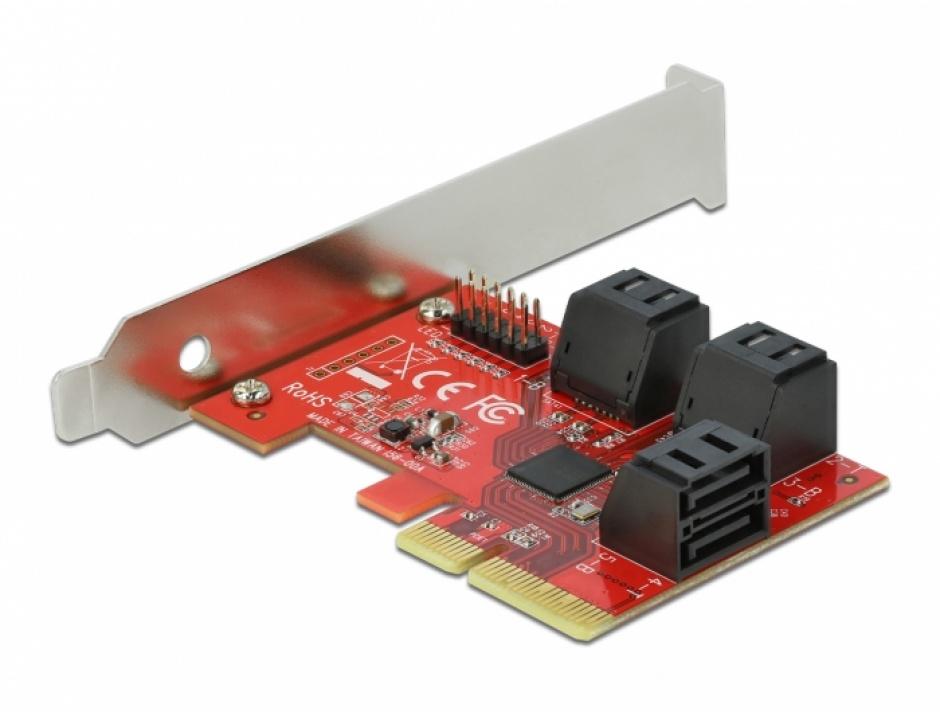 Imagine PCI Express cu 6 porturi SATA III LPFF, Delock 89042