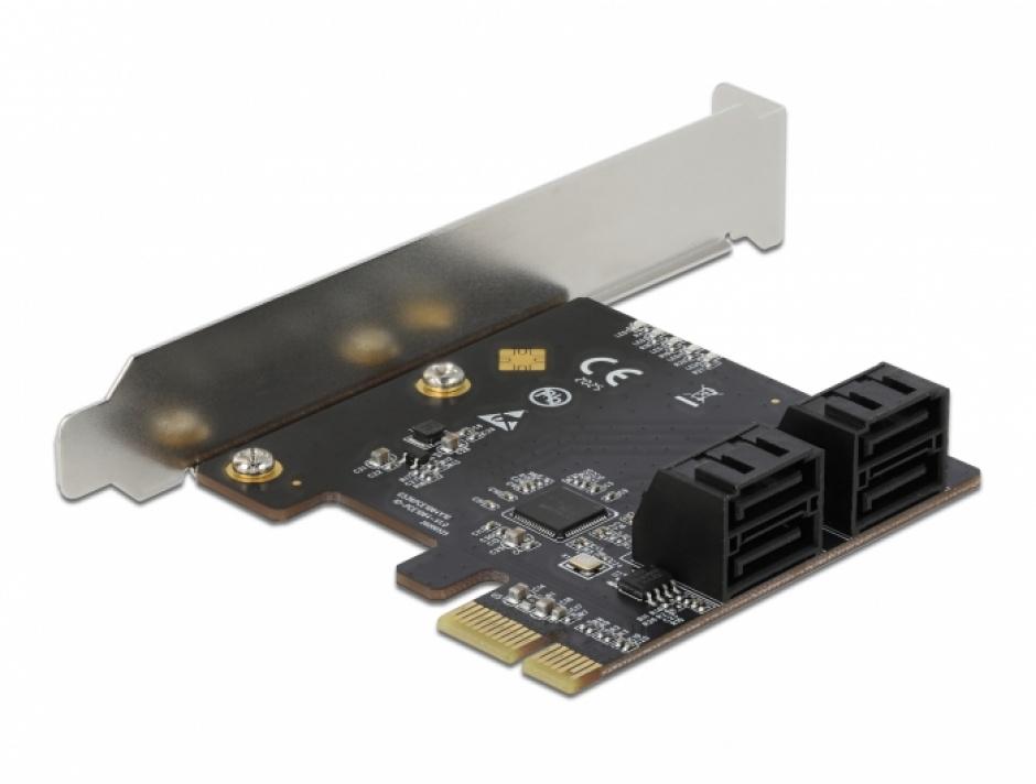 Imagine PCI Express cu 4 porturi SATA III, Delock 90010