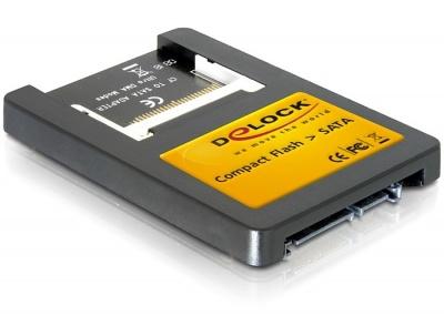 Imagine Card reader Compact Flash la interfata SATA 2,5 inch, Delock 91661