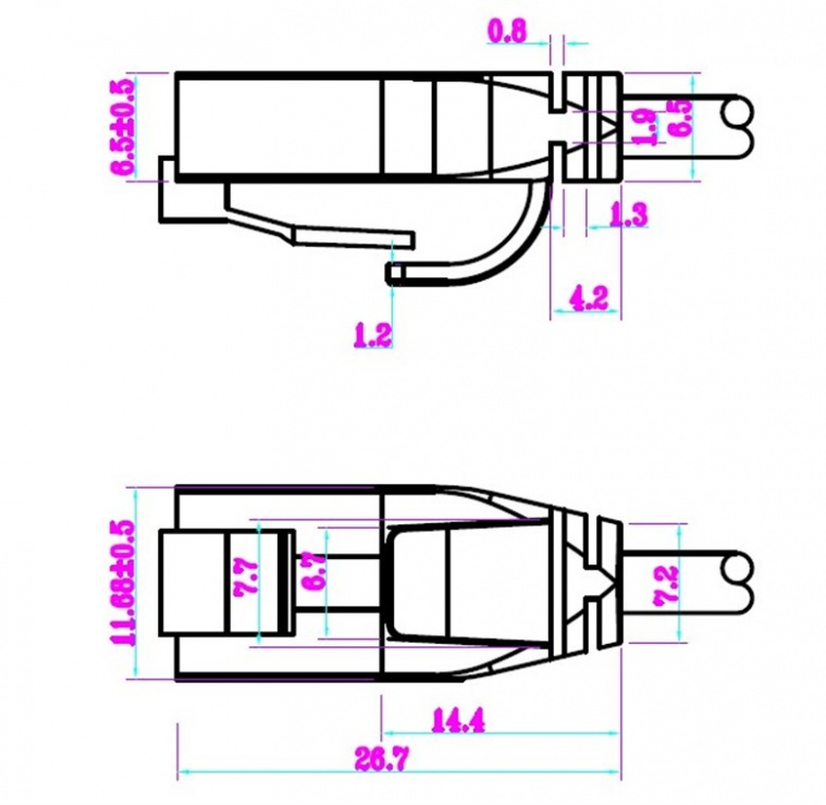 Imagine Cablu de retea RJ45 UTP cat 6 Slim 15m Negru, Goobay 93731